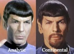 Analytic vs Continental
