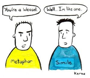metaphor vs simile