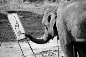 painting elephants